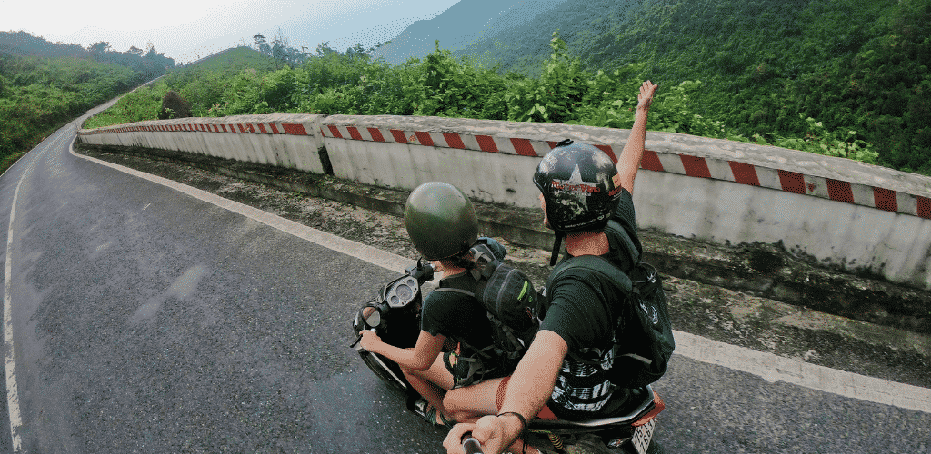Living in Da Nang Motorbike Mountains Hai Van Pass Go Pro